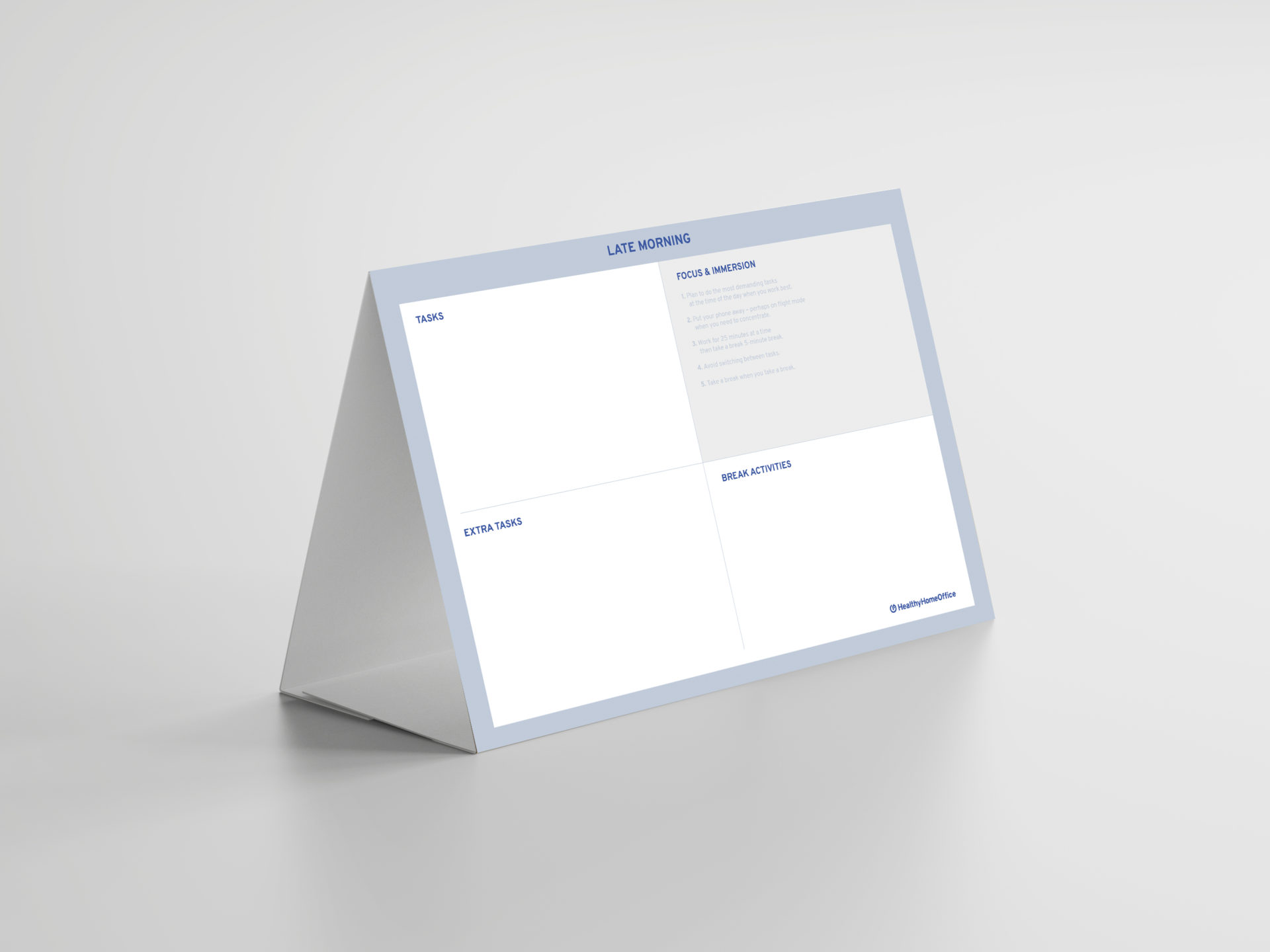Focus box for remote working