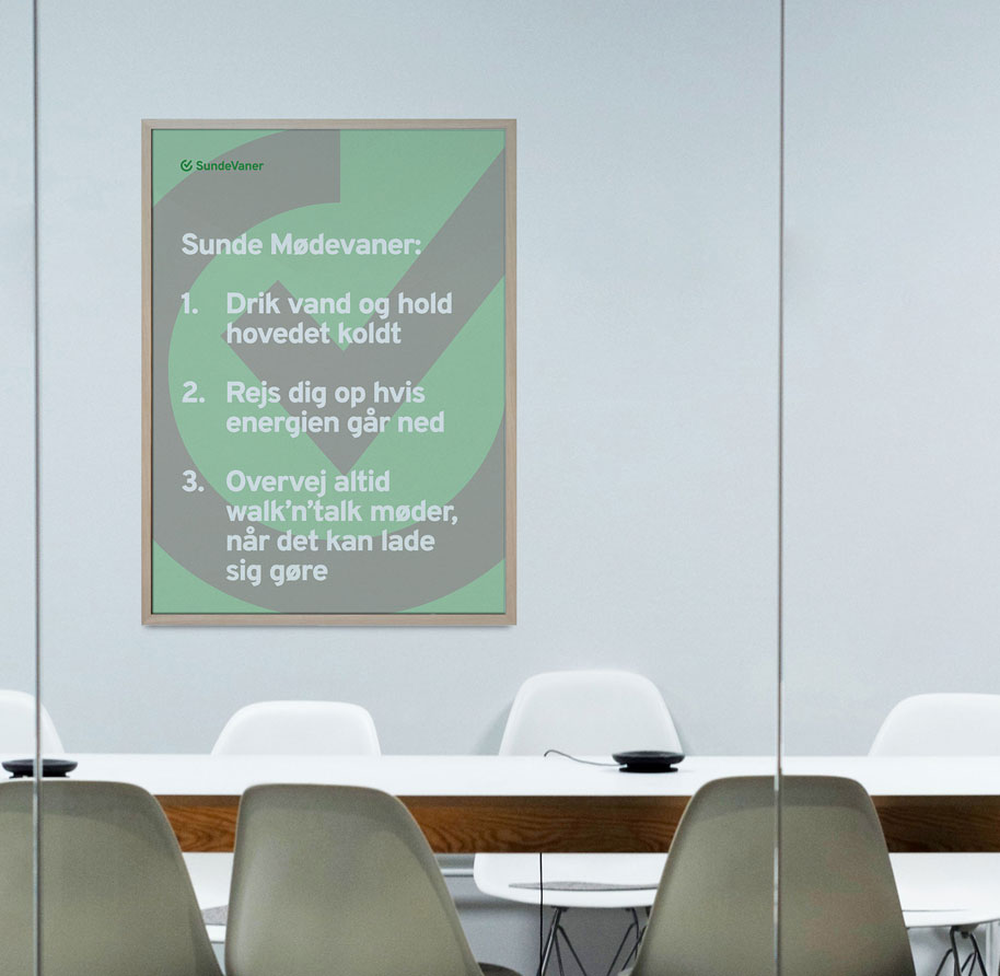 plakat med møderegler