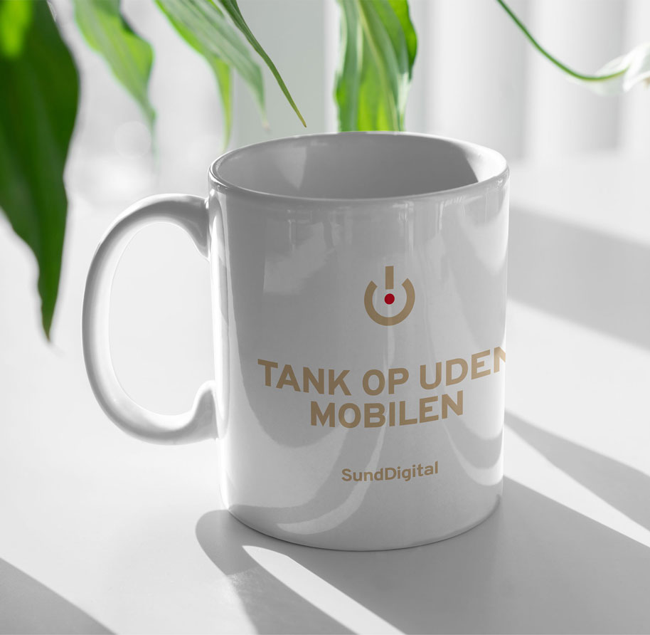 Kaffekop med budskab